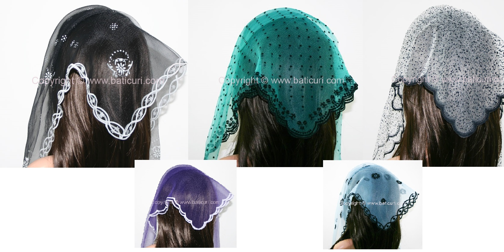 ~~Nylon Square Scarves with Zig-zag